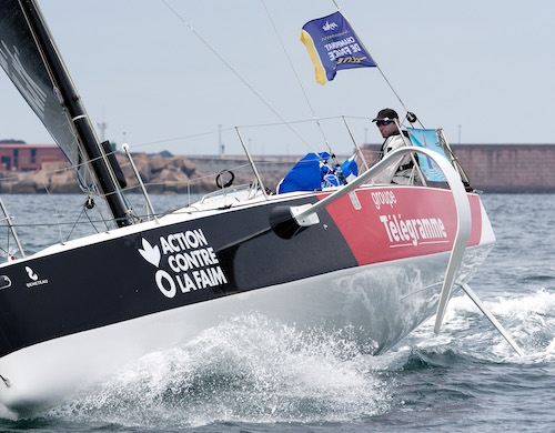 Le HUB by OC Sport skipper Benjamin Schwartz leads the French Offshore Championship