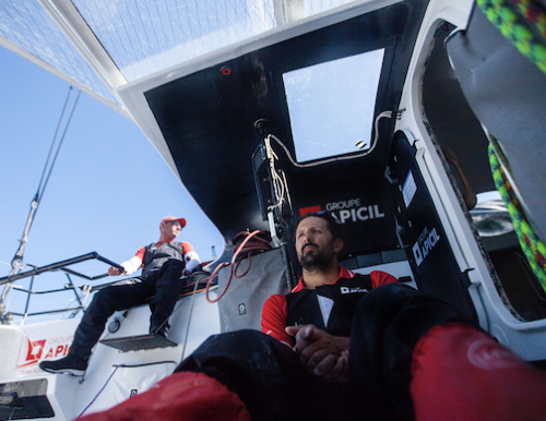 Le HUB by OC Sport skipper Yoann Richomme teams up with Damien Seguin for TJV